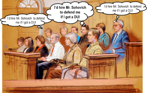 Jurors would hire Mr. Sohovich to Defend their DUI